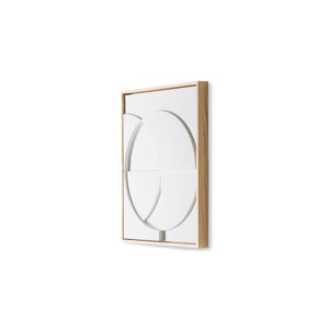 HKliving - framed relief art panel white small no28wonen.nl