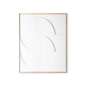 HKliving - framed relief art panel white D large no28wonen.nl