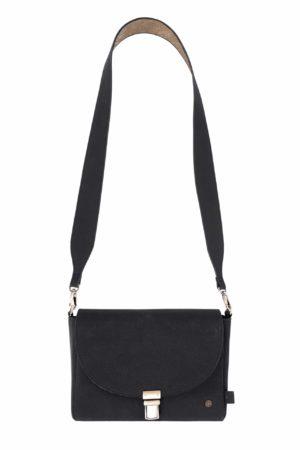 Zusss- no28wonen - trendy schoudertas met gesp mat zwart- No 28 wonen & lifestyle