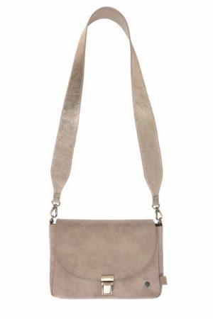 Zusss- no28wonen - trendy schoudertas met gesp zand- No 28 wonen & lifestyle