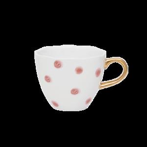 Urban nature culture - good morning cup mini small dots, cameo brown shop je bij no28.nl