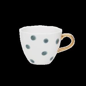 good morning cup mini small dots, blue green shop je bij no28.nl