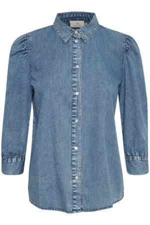 denim blouse van Kaffe bij No28wonen