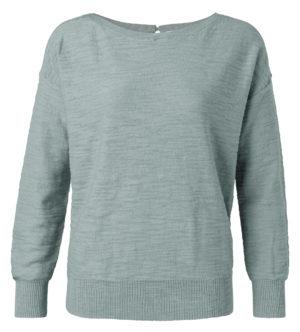 sweater met rib boorden van yaya