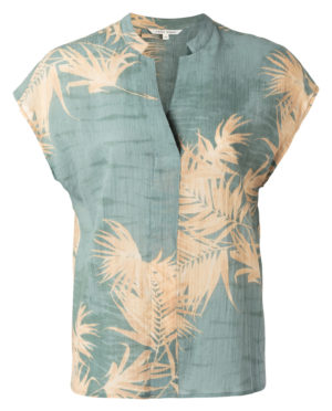 print shirt v-hals van yaya -wonen en lifestyle webshop no28wonen.nl