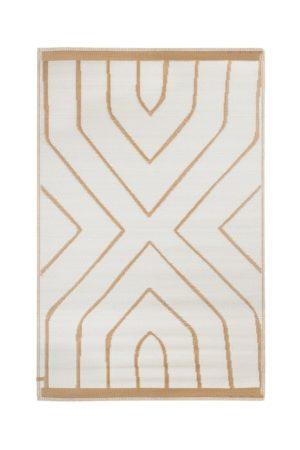 zusss-buitenkleed grafisch patroon 120x180cm kaki shop je bij no28.nl