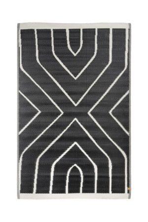 zusss-buitenkleed grafisch patroon 120x180cm zwart shop je bij no28.nl