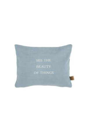 Zusss kussen beauty of things 35x25cm grijs-blauw shop je bij no28.nl
