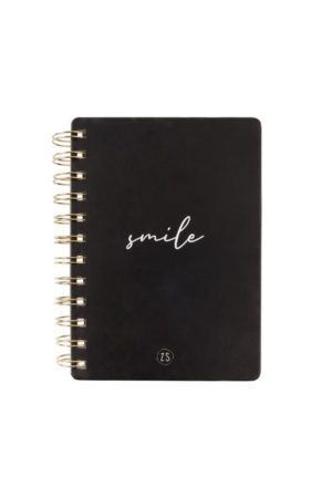 no28wonen.nl - Zusss notitieboekje smile zwart - no28wonen en lifestyle