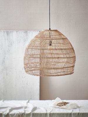 Hk livinghanglamp riet natural M shop je nu bij no28.nl