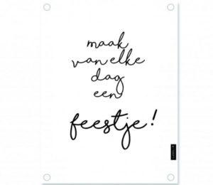 no28wonen.nl - Label r tuinposter feestje wit - no28wonen en lifestyle