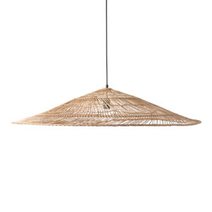 HK living rieten lamp triangle naturel XL no28wonen.nl wonen en lifestyle webshop