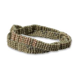 YAYA - armband met kralen legergroen shop je bij no28.nl
