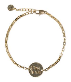 YAYA - armband met munt goud shop je bij no28.nl