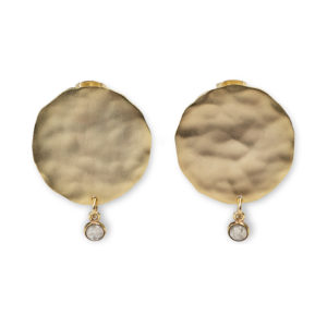 YAYA - oorbellen met munt en bedel goud shop je bij no28.nl