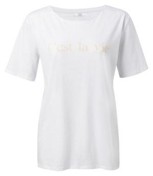 t shirt wit met quote van Yaya -wonen en lifestyle webshop no28wonen.nl