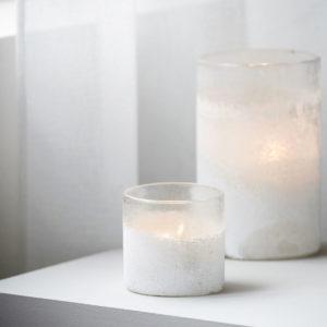 Waxinelichthouder, mist, Wit - wonen en lifestyle webshop n28wonen