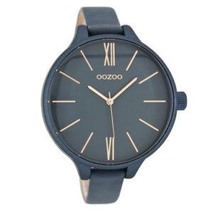 horloge van Oozoo donkerblauw rose -wonen en lifestyle webshop no28wonen.nl