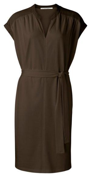 YAYA - jurk met v-hals en korte mouwen shop je bij no28.nl