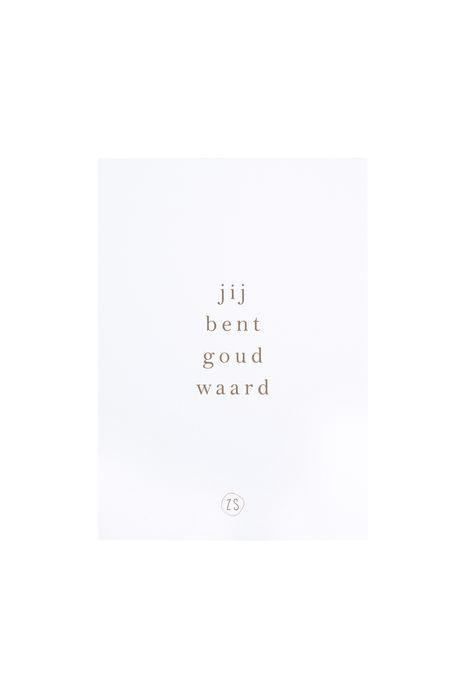 Zusss - kaart goud waard wit - wonen en lifestyle webshop no28wonen