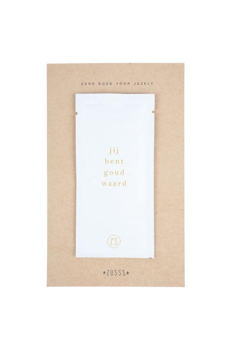 Zusss - maskertje goud waard 10ml wit - wonen en lifestyle webshop no28wonen