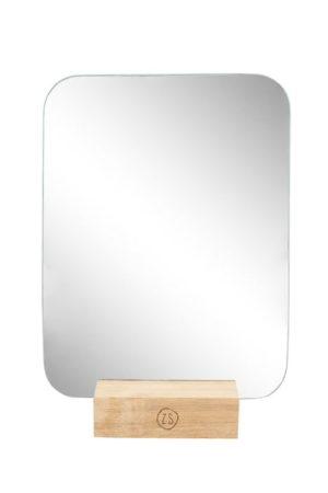 Zusss - spiegel op houten voet 18x23cm shop je bij no28.nl