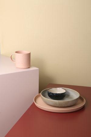 HKliving - home chef ceramics: diep bord rustic groen/grijs - wonen en lifestyle webshop no28wonen
