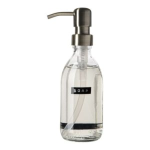 Wellmark - handzeep frisse linnen helder glas messing pomp 250ml (soap) - wonen en lifestyle webshop no28wonen