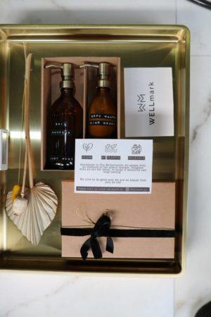 Wellmark - giftbox kind heart bruin glas messing pomp - wonen en lifestyle webshop no28wonen