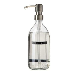 Wellmrk - afwasmiddel bamboe helder glas messing pomp 500ml (dish soap) - wonen en lifestyle webshop no28wonen