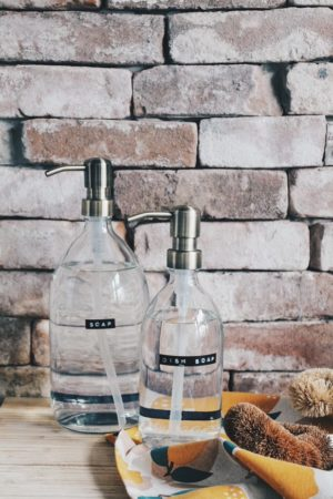 Wellmark - afwasmiddel bamboe helder glas messing pomp 500ml (dish soap) - wonen en lifestyle websop no28wonen