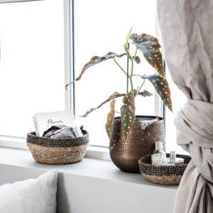 Mand, Kom, Zwart/Natuurlijk - wonen en lifestyle webshop no28wonen
