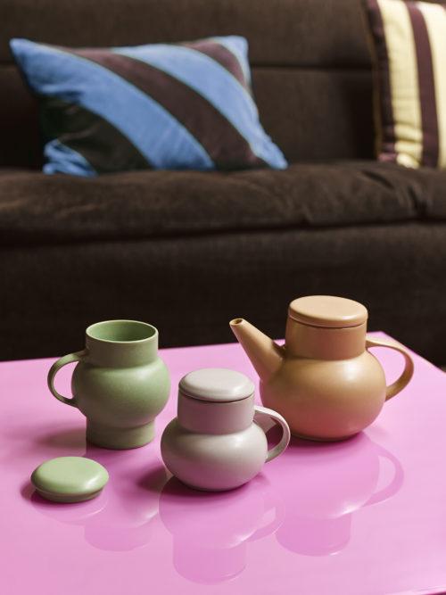 HKliving,keramische bubbel theepot zand. NO28 wonen en lifestyle
