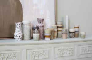 HKliving - keramiek glazen bloemen vaas cream - wonen en lifestyle webshop no28wonen