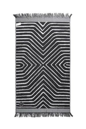 Zusss badhanddoek grafisch patroon 60x115cm grijs wonen en lifestyle webshop no28wonen
