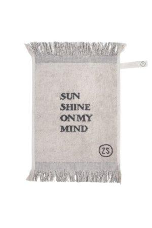 Zusss gastendoek sunshine 30x55cm grijs wonen en lifestyle webshop no28wonen