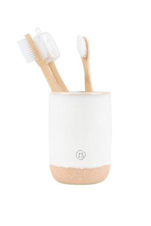 Zusss keramieken tandenborstelhouder wit wonen en lifestyle webshop no28wonen