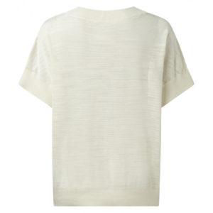 YAYA - Slub trui met een ronde hals en korte mouwen - no 28 wonen & lifestyle