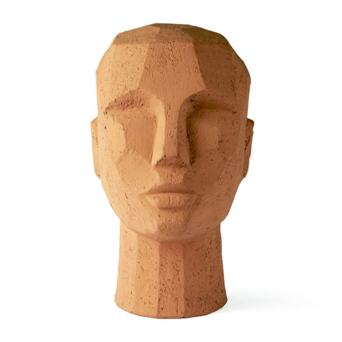 Abstract hoofd sculptuur terracotta HKLiving - wonen en lifestyle webshop no28wonen