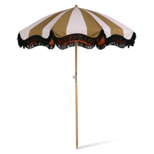 DORIS for HKLiving strand parasol klassiek nude/mustard - wonen en lifestyle webshop no28wonen