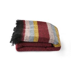 DORIS for HKLiving fluffy plaid bordeaux - wonen en lifestyle webshop no28wonen
