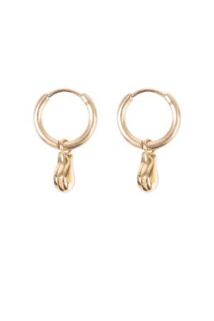 Zusss - oorbellen met gouden hangertje - wonen en lifestyle webshop no28wonen