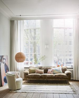 hkliving velvet kussen bruin naturel 50x70 no28wonen.nl wonen en lifestyle webshop