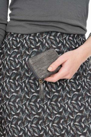 Zusss klein portemonneetje kroko antracietgrijs no28wonen.nl wonen en lifestyle webshop